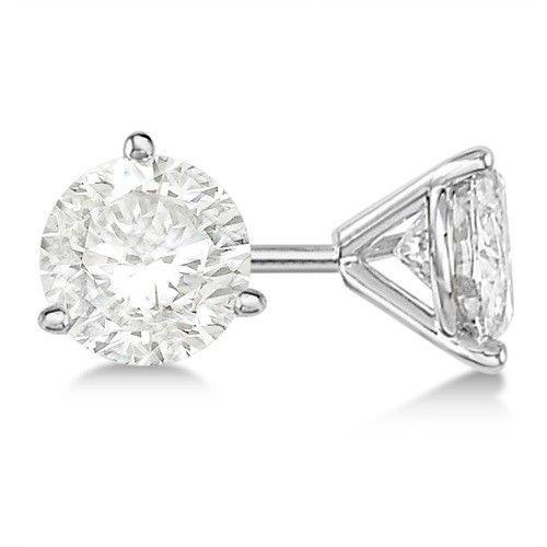 1 4 Ct Tw Diamond Stud Earrings In 14k White Gold 3 Prong Quality Si1 G Gold Diamond Earrings Studs Diamond Earrings Studs Round Diamond Earrings Studs
