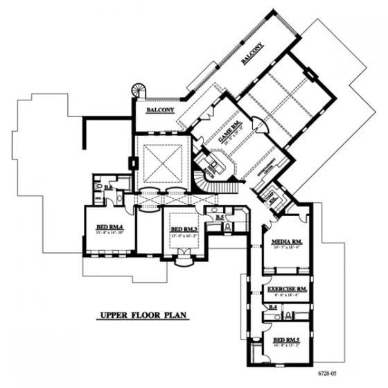 6782 05 Grand Home Designs Mountain House Plans Grand Homes House Plans