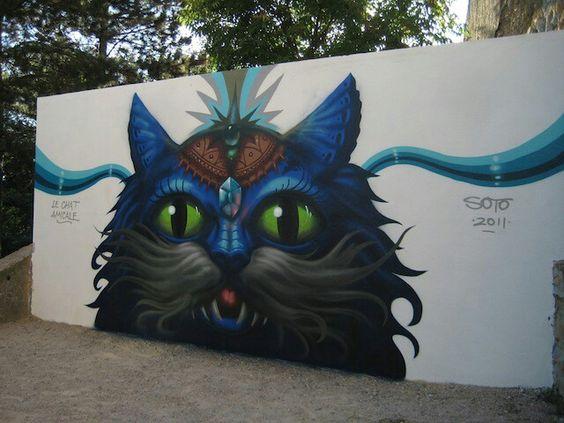 Street art cat :-)