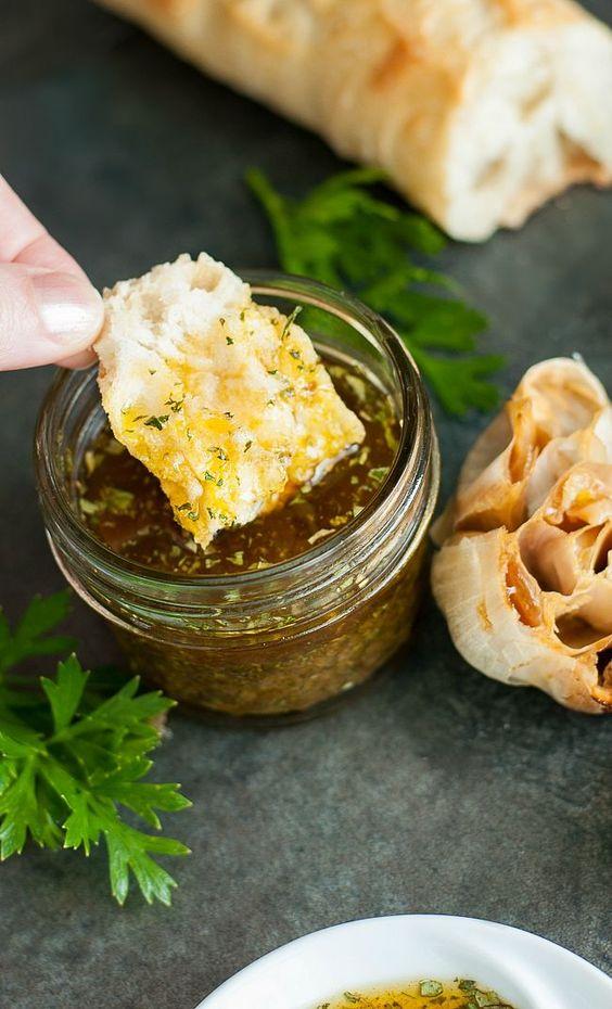 ... roasted garlic rocks party dips garlic olive oil olive oil bread dip