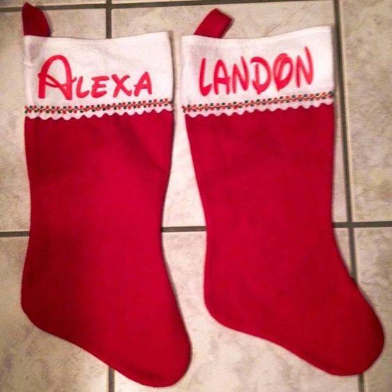 Personalized stockings. Www.designsbykandj.com