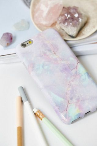 Pastel Galaxy Marble iPhone Case by Velvet Caviar: