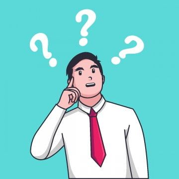 Cartoon Businessman Confused And Thinking Something With Question Mark Png And Vector This Or That Questions Question Icon Question Mark