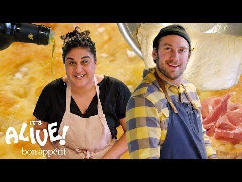 1 Brad Makes Focaccia Bread With Samin Nosrat It S Alive Bon Appetit Youtube Focaccia Bread Focaccia Bon Appetit Youtube