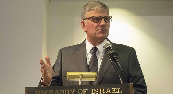 BIBLICAL TO BACK ISRAEL -In a speech at the Israeli Embassy in Washington, D.C., the son of Billy Graham told national evangelical leaders why it is biblical to back Israel.