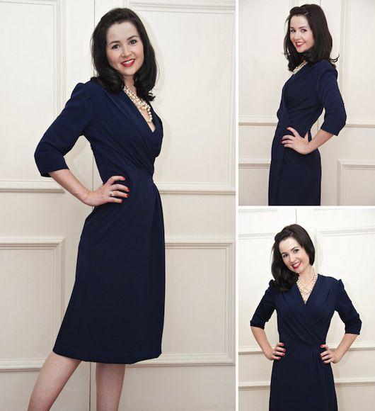 1940 S Wrap Dress Sewalong Bodice And Collar Length Alterations 1940s Wrap Dress We Are Defi Wrap Dress Pattern Sewing Dresses Vintage Dress Patterns