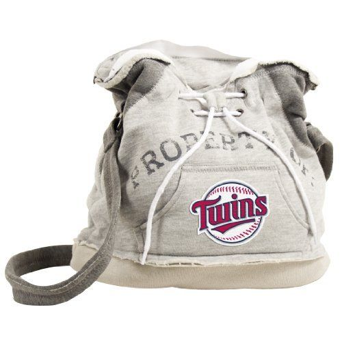MLB Minnesota Twins Hoodie Duffel by Pro-FAN-ity by Littlearth. $20.09. Pro-FAN-ity by Littlearth offers you the authentic feel of your favorite sweatshirt in their Officially Licensed Hoodie Duffel. These purses take the authentic look and feel of your favorite team sweatshirt and craft them into purses that will give you that Saturday night style, even when you're heading off to the Sunday afternoon game. Vintage detailing and decorative lacing are just a few of the ...