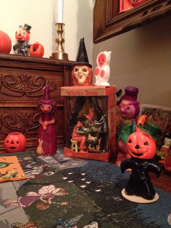 Vintage Gurley Halloween candles.