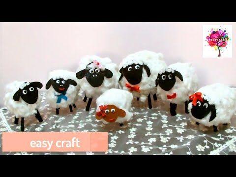 خروف العيد فى اقل من عشره دقائق Youtube Crafts Easy Crafts Crafts For Kids