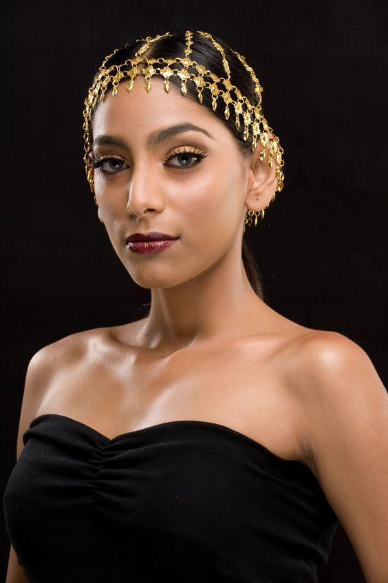 makeup & headpiece | queen of sheba | Pinterest ...