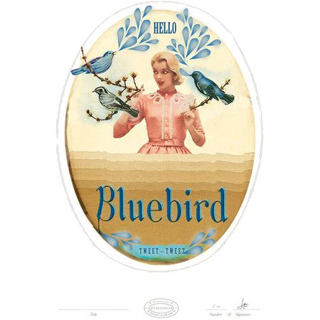 Hello Bluebird Print