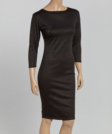 Loving this Black Studded Dress on #zulily! #zulilyfinds