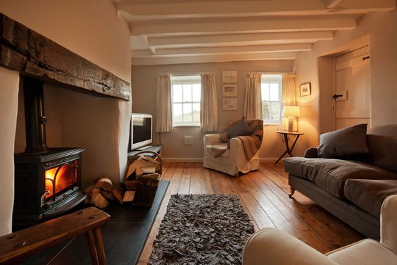 Fire, deep sofa, cosy throws, favourite film, glass of your favourite tipple - Valentine's Day couldn't be better!    http://www.sheepskinlife.com/relax-at/tailors-cottage/#