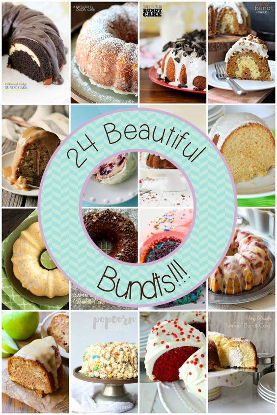 Fabulous collection of 24 Beautiful Bundt Cakes - including our Hummingbird Bundt Cake!