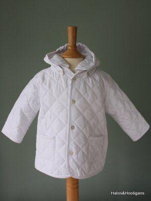 Emile et Rose baby Boys White Jacket with Detachable Hood | Baby