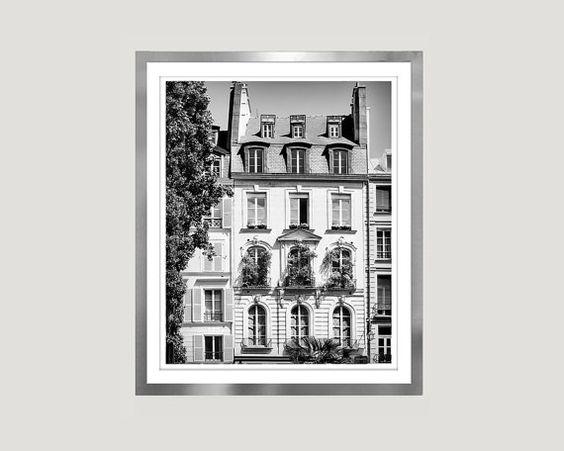 Paris Black and white print Large wall art by RivuletPhotography Fine art print — http://etsy.me/2gBFTWp #paris #largeart #wallart #18x24 #photography #blackandwhite #prints #buyonline #architecture