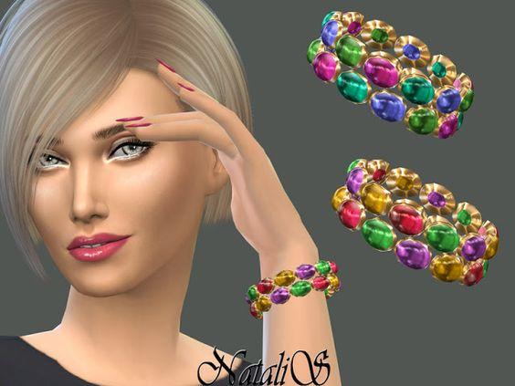 Sims 4 CC's - The Best: Multicolor gems bracelet by NataliS