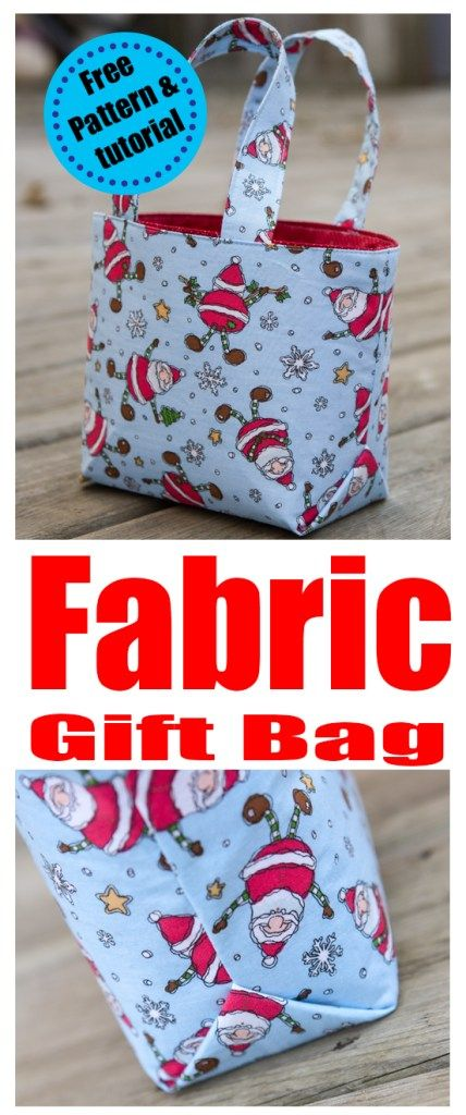 Reusable Fabric Gift bag tutorial | Charmed By Ashley