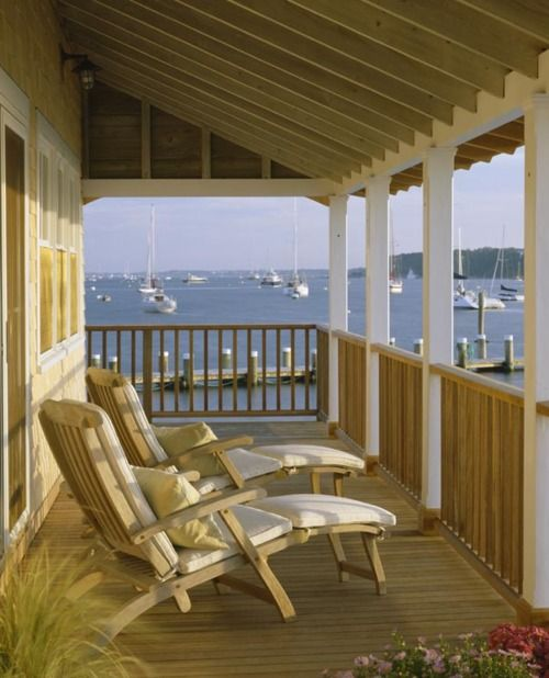 Beach House Decks: Porches, Decks And Cottages On Pinterest