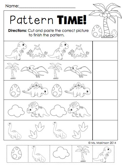 dinosaur literacy and math activities patterns preschool and math. Black Bedroom Furniture Sets. Home Design Ideas
