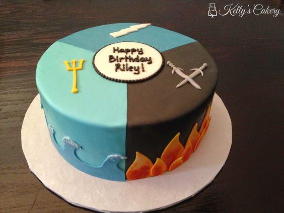 Percy Jackson Cake - www.KellysCakery.com