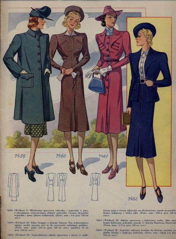 Ubrania z lat 3o.tych