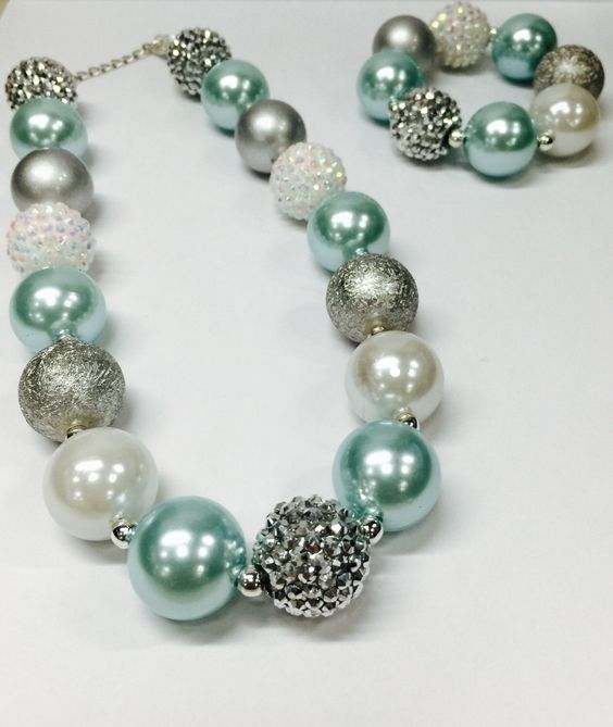 A personal favorite from my Etsy shop https://www.etsy.com/listing/462697826/girls-chunky-necklace-girls-bubblegum