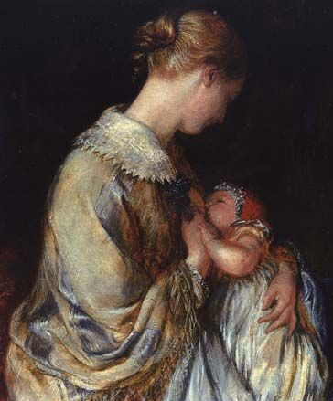 The Young Mother, 1845 Charles West Cope