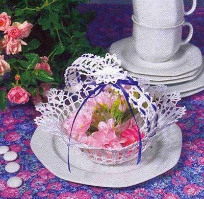 corbeille au ruban violet: