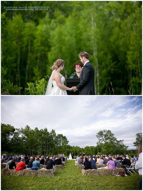 Backyard, rustic wedding ceremony in Minnesota photographed by Twin Cities wedding photographer Jeannine Marie Photography #backyardwedding #realTwinCitiesweddings #rusticwedding #saintpaulweddingphotographer #jeanninemariephotography