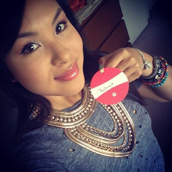 Markkit customer @angiephambam in @Claire Rodriguez-David's #khaleesinecklace!