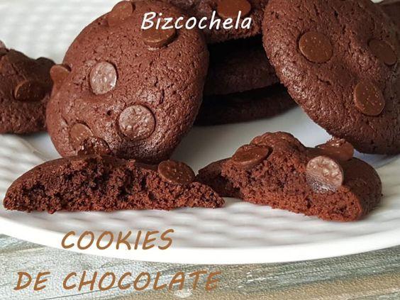 Cookies de chocolate | Postres Fáciles y Ricos La receta aquí ► http://www.postresfacilesyricos.com/receta/cookies-de-chocolate/851.html