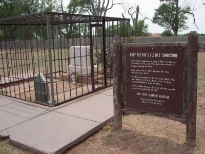 Final Resting Place of Billy the Kid.