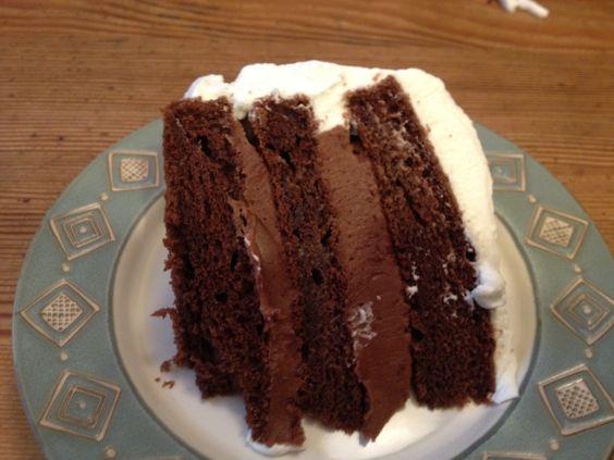 Perfect Chocolate Cake w/ Chocolate Filling