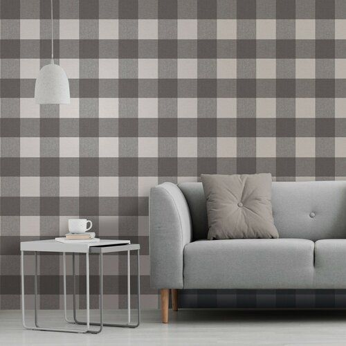 Crown Arendal Geometric Coral Grey Metallic Textured Vinyl Wallpaper  M1476