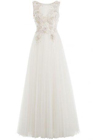 Alberta Ferretti Alberta Ferretti Bodenlanges Kleid mit Pailletten und Blüten…
