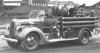 This 1938 fire truck was used by Ford at its Rouge Plant in Detroit.
