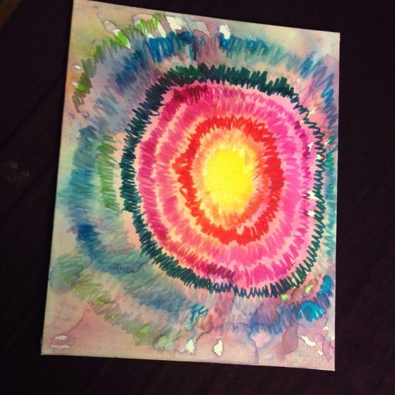 Handmade sharpie canvas art docraftastic
