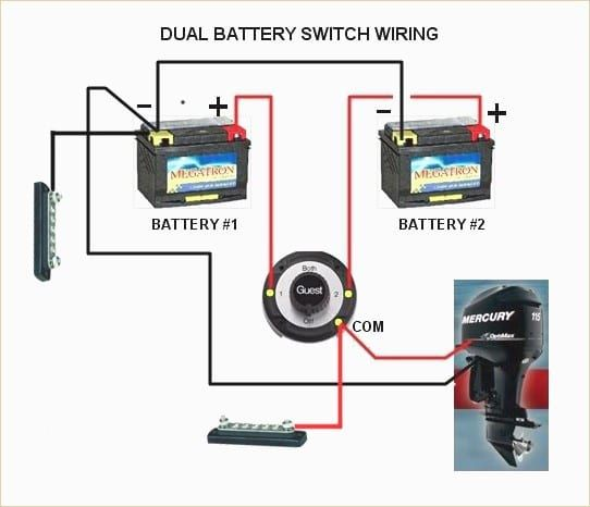 boat dual battery switch wiring diagram  boat battery boat