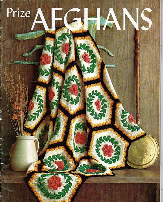 These twelve unique afghan patterns from the 60s wow everyone who sees them with their raised designs and intricate squares. Many are great for