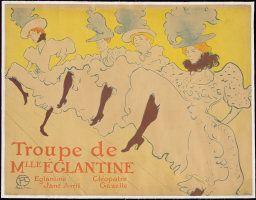 Henri de Toulouse-Lautrec French, 1864-1901  Mademoiselle Eglantine's Troupe, 1896  Color lithograph on tan wove paper