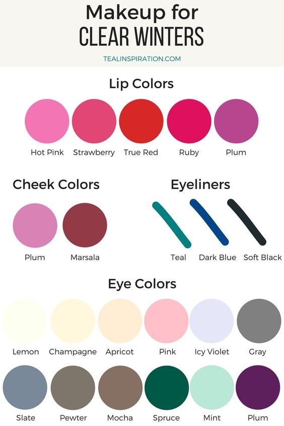 Clear Winter Makeup Colors