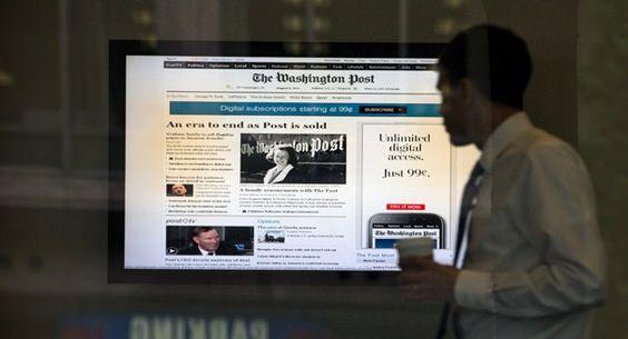 washington post, new york times, financial times. três grandes jornais enfrentando os novos tempos.