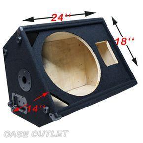15 With Horn Empty Speaker Cabinet Floor Monitor Pa In Speakers Monitors Ebay Fazer Caixa De Som