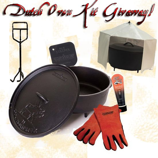 Dutch Oven Kit Give Away over at Willow Haven Outdoor FB page, you'll have to scroll down a ways to see the link.  Hurry ends 5-5-2014.  Do not enter on my Pinterest page, I'm not the sponsor of this.  Go to their FB page and find the link if you're interested.