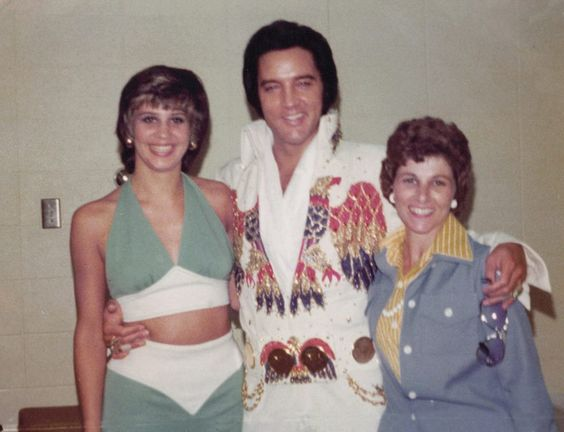 June 25, 1974 Before His Show with two very happy and lucky ladies  Columbus, Ohio,.8:30pm