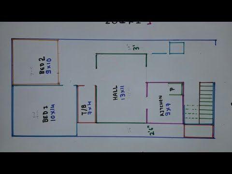 3bhk 30 40 East Face House Plan Map Naksha Youtube In 2021 House Map 2bhk House Plan How To Plan