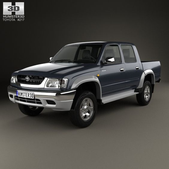 Land Rover Range Rover L405 2014 3d Model From Humster3d: Toyota Hilux Double Cab 2001 3D Model