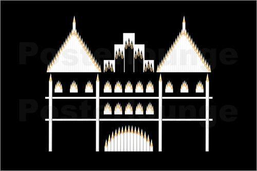 Udo Dittmann - Holstentor aus Bleistiften  #Bleistifte #Bleistift #Monumente #Kunst #Wahrzeichen #Monument #calvendo #posterlounge #poster #Kalender2017 #pencils #pencil #monuments #art #landmark #monument #calendar2017 #germany #deutschland #lübeck #holstentor