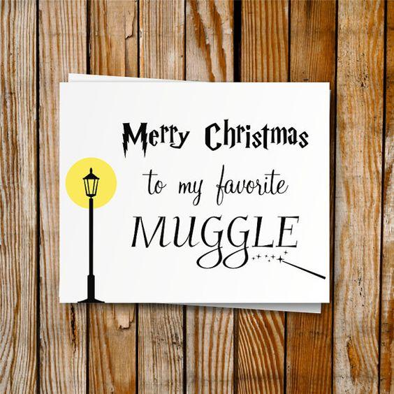 Harry Potter Christmas Card Printable DIY Christmas von PrintyMuch